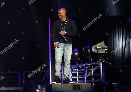 Big Tigger performs during the Bud Light Super Bowl Music Fest EA SPORTS BOWL at State Farm Arena, in Atlanta