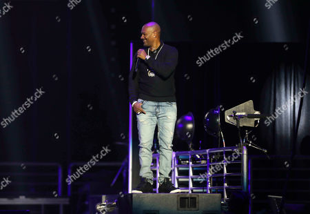 Stock Photo of Big Tigger performs during the Bud Light Super Bowl Music Fest EA SPORTS BOWL at State Farm Arena, in Atlanta