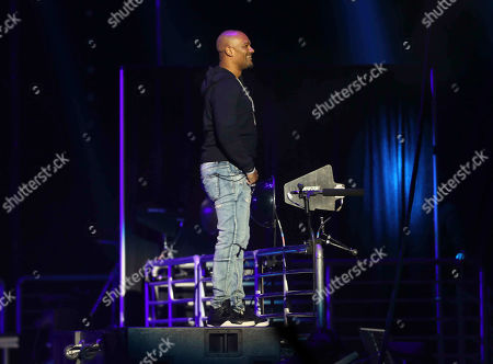 Stock Image of Big Tigger performs during the Bud Light Super Bowl Music Fest EA SPORTS BOWL at State Farm Arena, in Atlanta