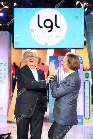 Bernard Pivot and Francois Busnel