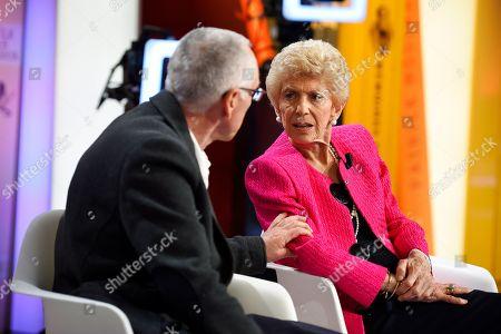 Helene Carrere d'Encausse and Rene Fregni
