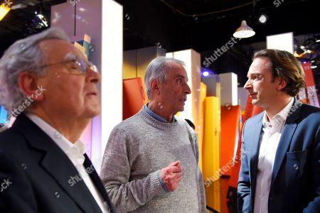Stock Photo of Bernard Pivot, Alain Corbin and Francois Busnel