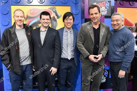Stock Image of Toby Emmerich, Christopher Miller, Dan Lin, Will Arnett and Kevin Tsujihara