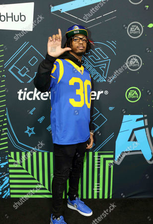 Stock Picture of Metro Boomin arrives during the Bud Light Super Bowl Music Fest EA SPORTS BOWL at State Farm Arena, in Atlanta