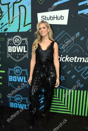 Kristine Leahy arrives during the Bud Light Super Bowl Music Fest EA SPORTS BOWL at State Farm Arena, in Atlanta
