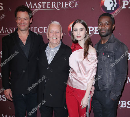 Dominic West, Andrew Davies, Lily Collins and David Oyelowo