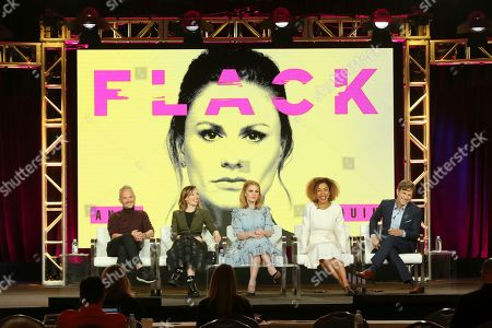 Editorial photo of Pop TV 'Flack' TV show panel, TCA Winter Press Tour, Los Angeles, USA - 30 Jan 2019