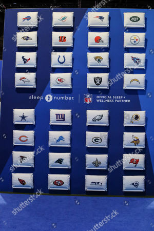 Atlanta, GA..Game Week with NFL Experience Sleep Number booth pillows at Super Bowl LIII at Georgia World Congress Center in Atlanta, GA on , 2019. (Photo by Jevone Moore)