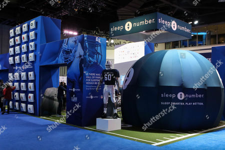 Atlanta, GA..Game Week with NFL Experience Sleep Number booth at Super Bowl LIII at Georgia World Congress Center in Atlanta, GA on , 2019. (Photo by Jevone Moore)