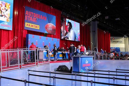 Super Bowl LIII preparations Atlanta Stock Photos (Exclusive