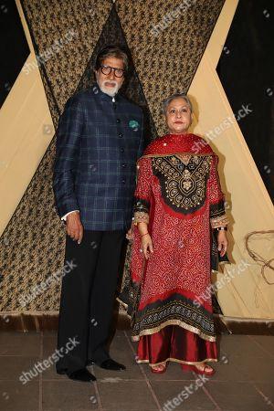 Bollywood actors Amitabh Bachchan and Jaya Bachchan