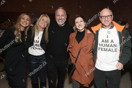 Stock Photo of Writer Lucy Alibar, Production Executive at Amazon Studios Kate Churchill, Producer Todd Black, Development Executive Amazon Studios Brianna Little and Head of Marketing & Distribution Amazon Studios Bob Berney