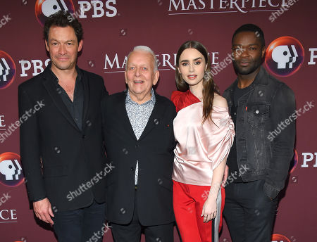 Dominic West Andrew Davies, Lily Collins and David Oyelowo
