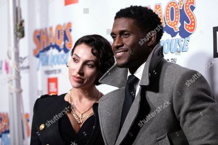 Lilit Avagyan, Reggie Bush. Lilit Avagyan and Reggie Bush arrive at Shaq's Fun House at Live! at the Battery Atlanta, in Atlanta