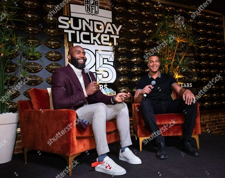 Malcolm Jenkins, Dale Moss. Malcolm Jenkins, left, and Dale Moss stop by DIRECTV NFL SUNDAY TICKET Lounge, in Atlanta
