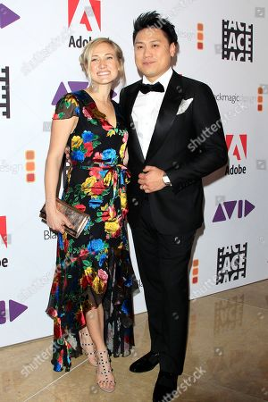 Kristin Hodge (L) and husband US director Jon M. Chu arrive for the 69th Annual ACE Eddie Awards at The Beverly Hilton Hotel in Beverly Hills, California, USA, 01 February 2019. The 69th Annual ACE Eddie Awards are presented by American Cinema Editors (ACE), the honorary society of film editors and the event recognizes the best editing of the year in 11 competitive categories including film, television and documentaries and also hands out honorary awards including the Golden Eddie and two career achievement honors.