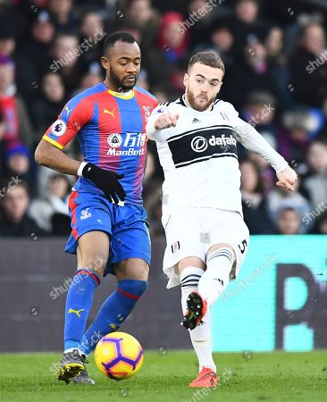 Calum Chambers of Fulham and Jordan Ayew of Crystal Palace