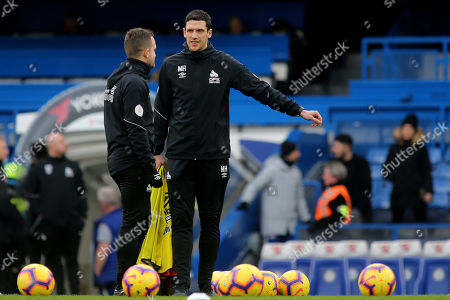 Huddersfield Town Coach, Mark Hudson during Chelsea vs Huddersfield Town, Premier League Football at Stamford Bridge on 2nd February 2019