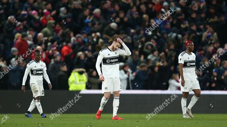 Dejected   Calum Chambers of Fulham  after conceding 2nd goal