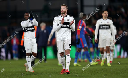 Calum Chambers of Fulham applauds the fans