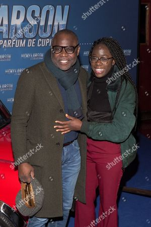 Stock Image of Basile Boli and daughter