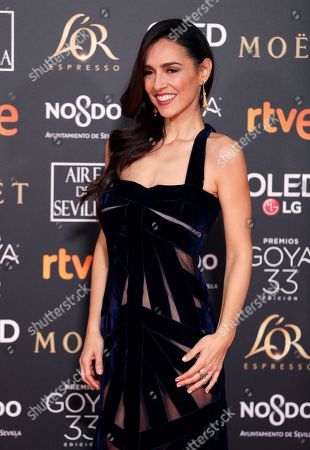 Cristina Brondo arrives for the 33rd Goya Awards ceremony at the Conference Centre in Seville, Spain, 02 February 2019. The awards are presented by the Spanish Film Academy.