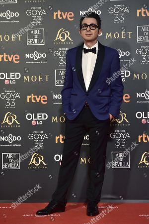 Spanish actor and humorist Berto Romero poses at the red carpet of the 33rd Goya Awards, celebrated at the Conference Centre, in Seville, southern Spain, 02 February 2019. The awards are presented by the Spanish Film Academy.
