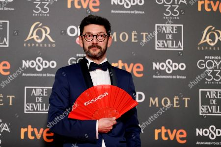 Manolo Solo poses at the red carpet of the 33rd Goya Awards, celebrated at the Conference Centre, in Seville, southern Spain, 02 February 2019. The awards are presented by the Spanish Film Academy.
