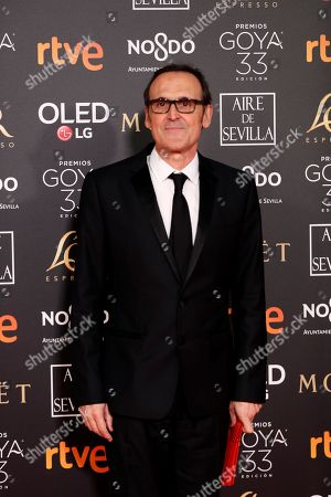 Alberto Iglesias poses at the red carpet of the 33rd Goya Awards, celebrated at the Conference Centre, in Seville, southern Spain, 02 February 2019. The awards are presented by the Spanish Film Academy.
