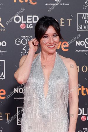 Lola Duenas poses at the red carpet of the 33rd Goya Awards, celebrated at the Conference Centre, in Seville, southern Spain, 02 February 2019. The awards are presented by the Spanish Film Academy.