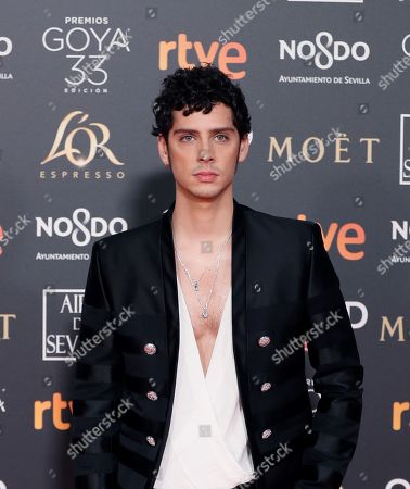 Eduardo Casanova poses at the red carpet of the 33rd Goya Awards, celebrated at the Conference Centre, in Seville, southern Spain, 02 February 2019. The awards are presented by the Spanish Film Academy.