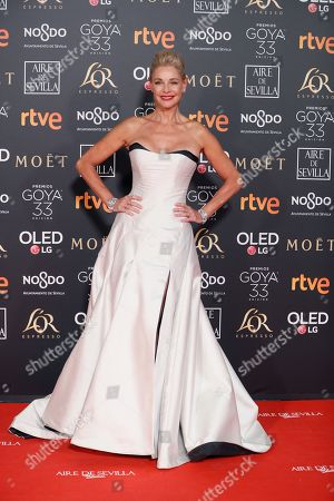 Belen Rueda poses at the red carpet of the 33rd Goya Awards, celebrated at the Conference Centre, in Seville, southern Spain, 02 February 2019. The awards are presented by the Spanish Film Academy.