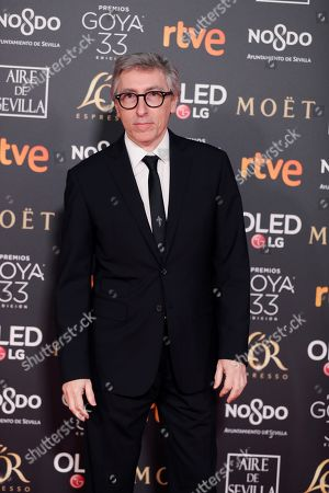 David Trueba poses at the red carpet of the 33rd Goya Awards, celebrated at the Conference Centre, in Seville, southern Spain, 02 February 2019. The awards are presented by the Spanish Film Academy.
