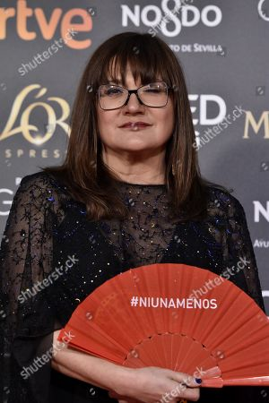 Isabel Coixet poses at the red carpet of the 33rd Goya Awards, celebrated at the Conference Centre, in Seville, southern Spain, 02 February 2019. The awards are presented by the Spanish Film Academy.