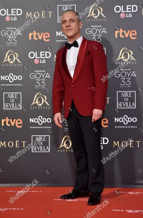 Javier Gutierrez poses at the red carpet of the 33rd Goya Awards, celebrated at the Conference Centre, in Seville, southern Spain, 02 February 2019. The awards are presented by the Spanish Film Academy.