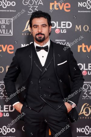 Antonio Velazquez arrives for the 33rd Goya Awards ceremony at the Conference Centre in Seville, Spain, 02 February 2019. The awards are presented by the Spanish Film Academy.