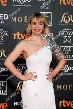 Maria Adanez arrives for the 33rd Goya Awards ceremony at the Conference Centre in Seville, Spain, 02 February 2019. The awards are presented by the Spanish Film Academy.
