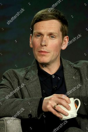 Stock Picture of Shaun Evans, member of the cast of 'Endeavour' participates in the Masterpiece 'Mystery!' panel during the PBS presentation at the Television Critics Association Winter Press Tour at The Langham Huntington, in Pasadena, Calif