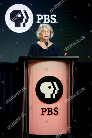 Masterpiece Executive Producer Rebecca Eaton participates in the Masterpiece 'Mystery!' panel during the PBS presentation at the Television Critics Association Winter Press Tour at The Langham Huntington, in Pasadena, Calif