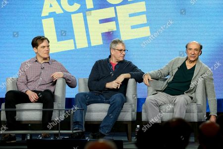Michael Shannon, Jeff Kaufman, F. Murray Abraham. Michael Shannon, from left, Jeff Kaufman and F. Murray Abraham participate in the American Masters Series 'Terrence McNAlly: Every Act of Life' panel during the PBS presentation at the Television Critics Association Winter Press Tour at The Langham Huntington, in Pasadena, Calif