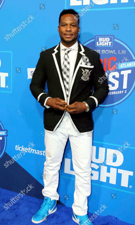 Robert Randolph arrives during the Bud Light Super Bowl Music Fest Day 2 at State Farm Arena, in Atlanta