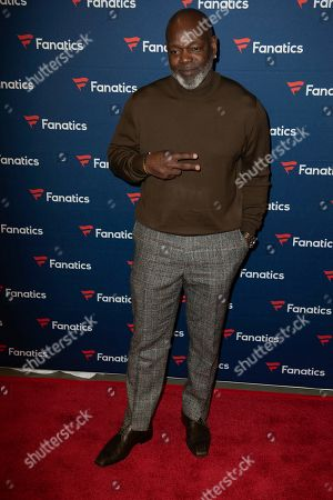 Emmitt Smith arrives at the 2019 Fanatics Super Bowl Party, in Atlanta