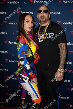 DJ Envy arrives at the 2019 Fanatics Super Bowl Party, in Atlanta