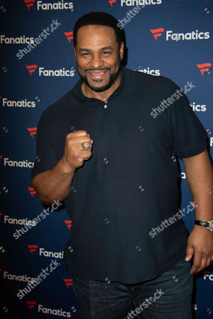 Jerome Bettis arrives at the 2019 Fanatics Super Bowl Party, in Atlanta