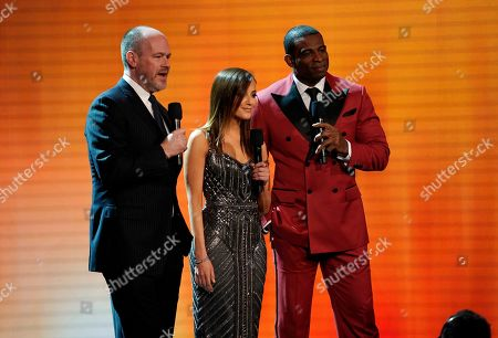 Rich Eisen, Kay Adams, Deion Sanders. Rich Eisen, from left, Kay Adams, and former NFL player Deion Sanders speak at the 8th Annual NFL Honors at The Fox Theatre, in Atlanta