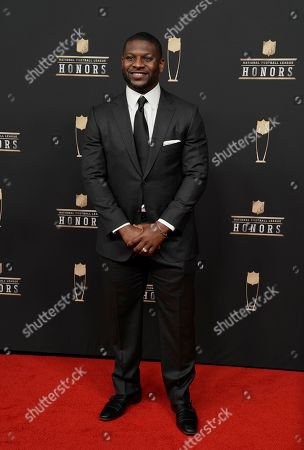 Former NFL player LaDainian Tomlinson arrives at the 8th Annual NFL Honors at The Fox Theatre, in Atlanta