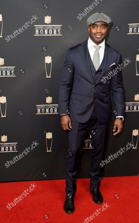 Former NFL player Curtis Martin arrives at the 8th Annual NFL Honors at The Fox Theatre, in Atlanta