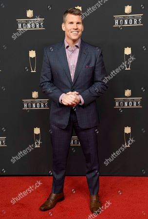 Scott Hanson arrives at the 8th Annual NFL Honors at The Fox Theatre, in Atlanta