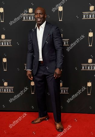 Former NFL player Terrell Davis arrives at the 8th Annual NFL Honors at The Fox Theatre, in Atlanta
