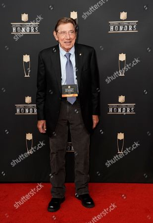 Former NFL player Joe Namath arrives at the 8th Annual NFL Honors at The Fox Theatre, in Atlanta